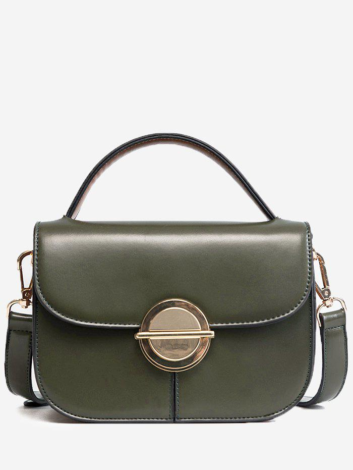 New Metal Faux Leather Stitching Crossbody Bag
