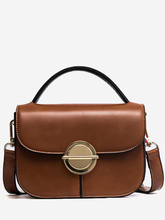 Affordable Metal Faux Leather Stitching Crossbody Bag