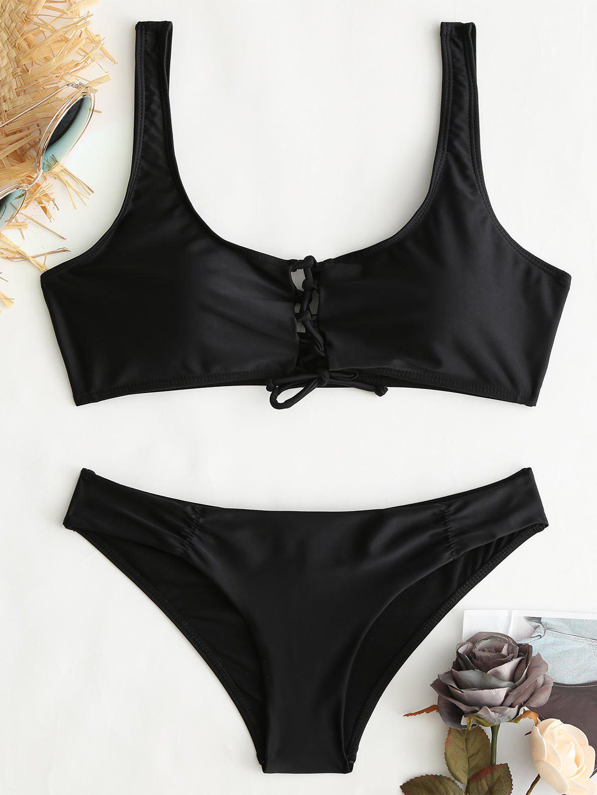 Outfit Criss Cross Crop Bkini Top and Hipster