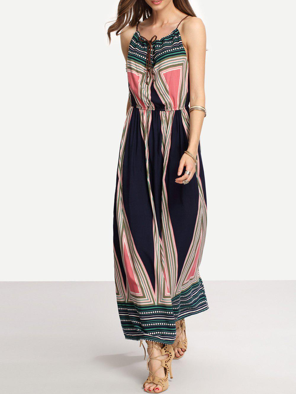Unique Halter Printed Bohemian Dress