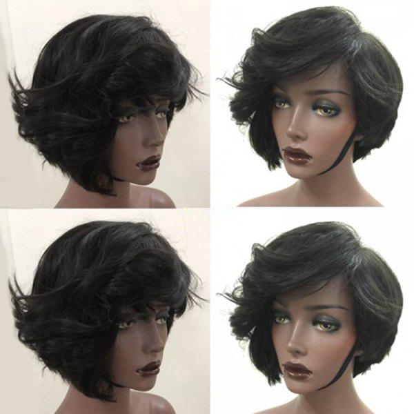 Outfits Short Side Bang Fluffy Slightly Curly Synthetic Wig