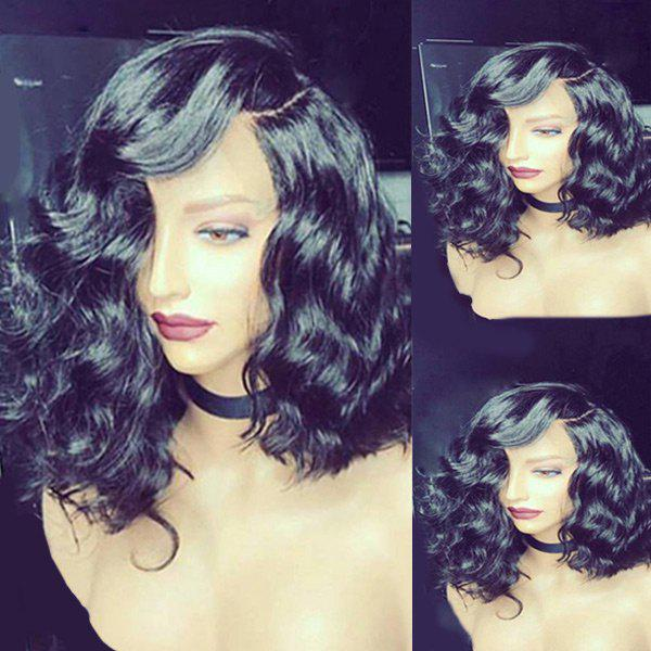 New Medium Side Parting Body Wave Synthetic Fiber Wig