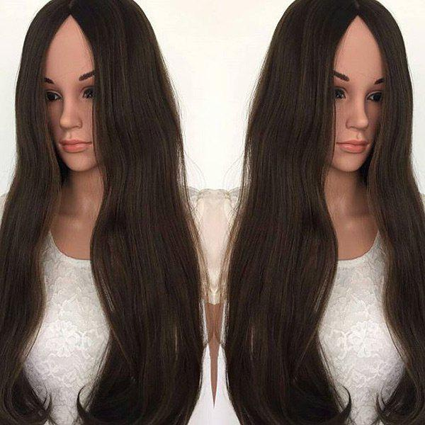 Best Long Center Parting Natural Straight Synthetic Wig
