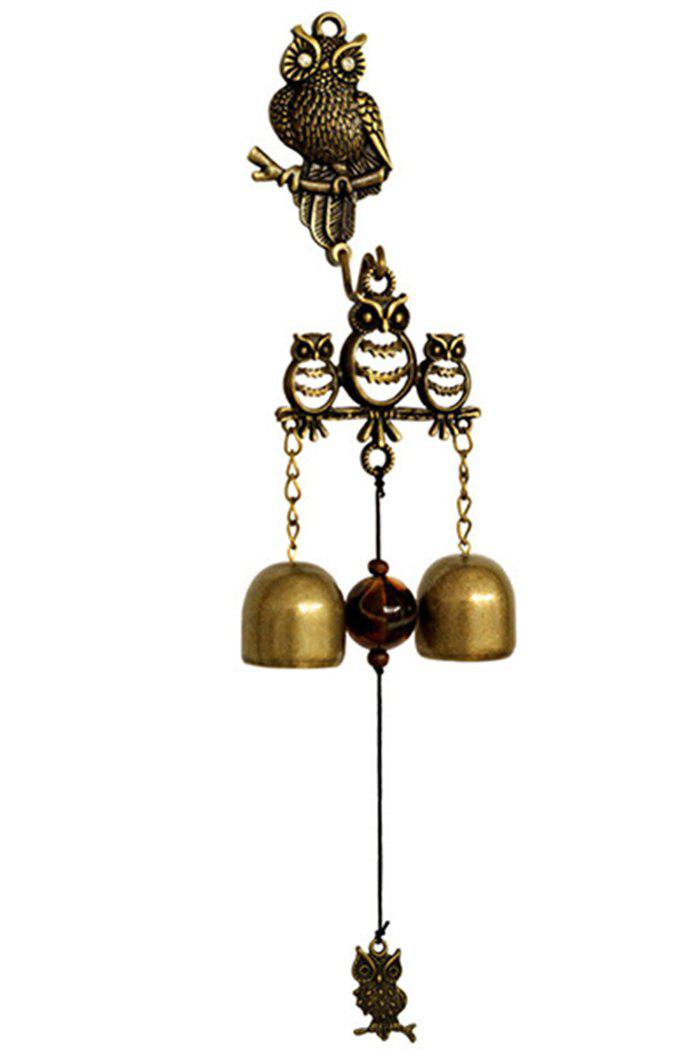 Home Hanging Decoration Metal Owl Wind Chime