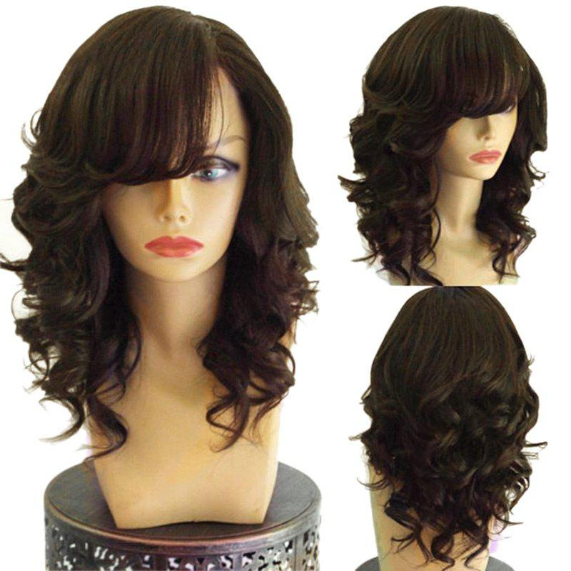 Chic Long Side Bang Layered Loose Wave Synthetic Wig
