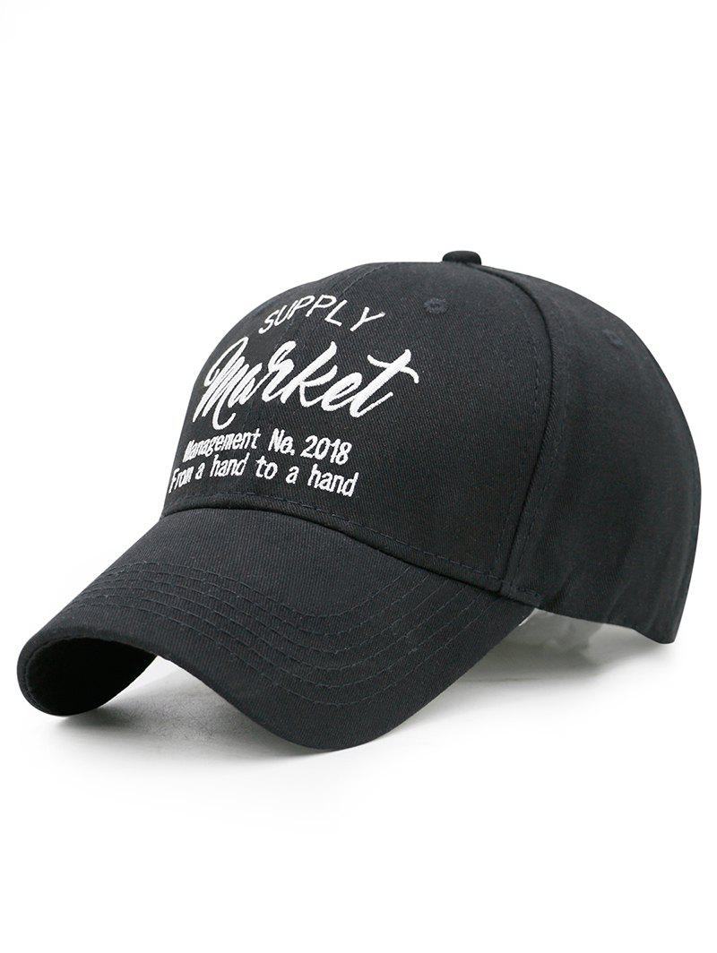 57b004bb04b Black Simple Letter Sentences Embellished Baseball Hat