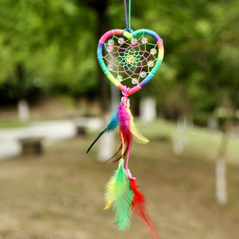 Store Valentine's Day Heart Feather Bead Dreamcatcher Wall Hanging
