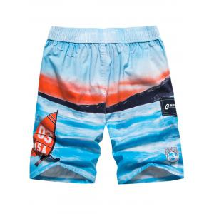 Drawstring Front Pocket Beach Shorts -