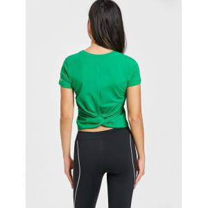 Back Twist Workout T-shirt -