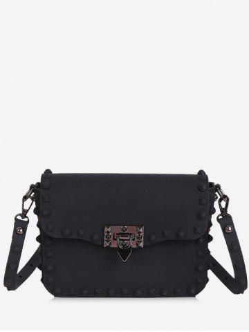 Latest Flap Metal Studs Crossbody Bag