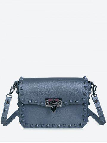 Affordable Flap Metal Studs Crossbody Bag