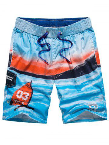 Drawstring Front Pocket Beach Shorts