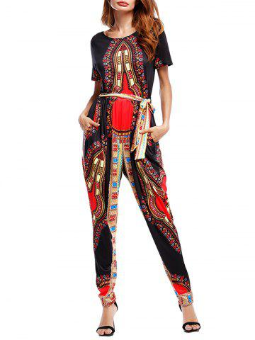 Discount Ethnic Print Jumpsuit