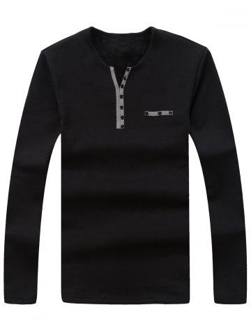 Thermal   Button   Shirt   Neck