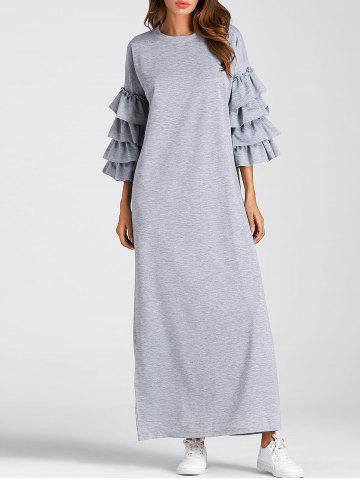 Shop Layered Flare Sleeve Maxi Dress