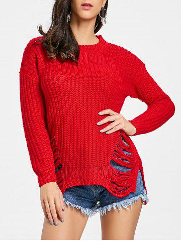 Trendy Ripped Chunky Knit Sweater