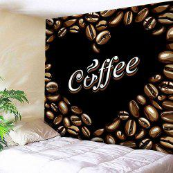 Wall Hanging Coffee Beans Abstract Heart Valentine's Day Tapestry -