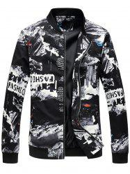 Zip Up - Blouson aviateur imprimé 3D City -