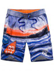 Tie-dye 3-pockets Beach Shorts -
