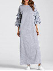 Layered Flare Sleeve Maxi Dress -