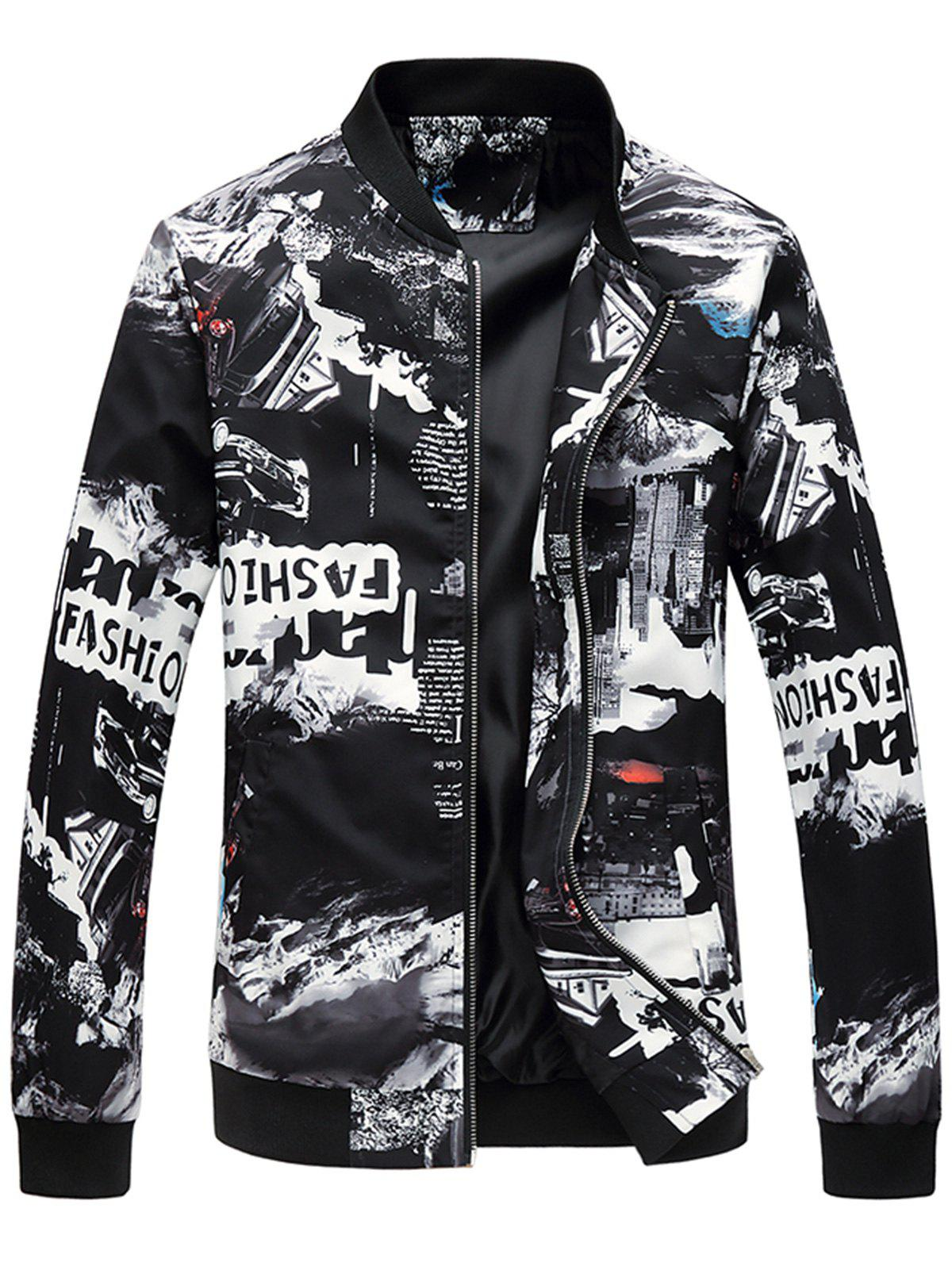 Zip Up - Blouson aviateur imprimé 3D City