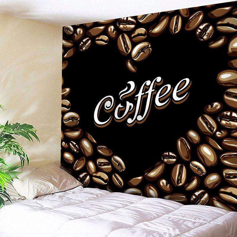 Cheap Wall Hanging Coffee Beans Abstract Heart Valentine's Day Tapestry