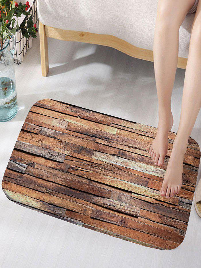 Wood Color W16 Inch * L24 Inch Uneven Wood Pattern Flannel Antiskid ...