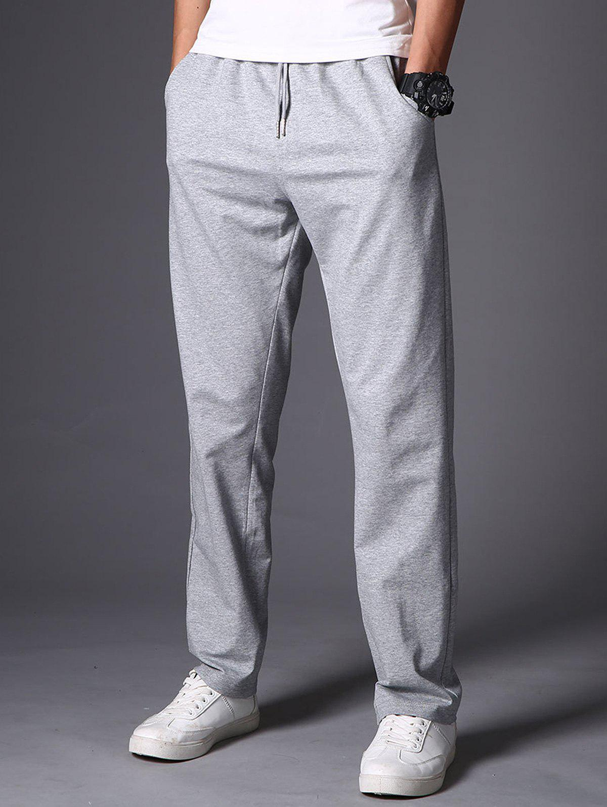 Store Drawstring Casual Straight Leg Sweatpants