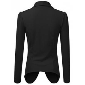Lapel Collar Asymmetrical Jacket -