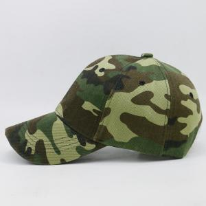 Camouflage Pattern Decorated Adjustable Baseball Hat -