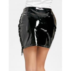 Lace Up Mini jupe en latex -