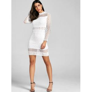 Mock Neck Hollow Out Dress -
