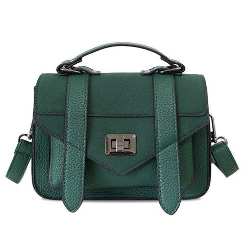 New Stitching Flap Crossbody Bag with Handle
