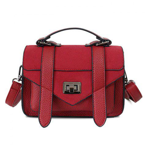 Affordable Stitching Flap Crossbody Bag with Handle