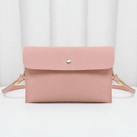 New Minimalist Faux Leather Flap Crossbody Bag