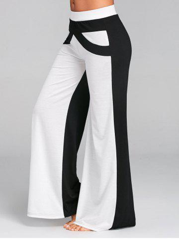 Chic Color Block Wide Leg Pants