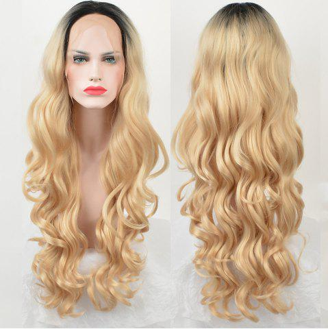 New Long Ombre Center Parting Loose Wave Lace Front Synthetic Wig