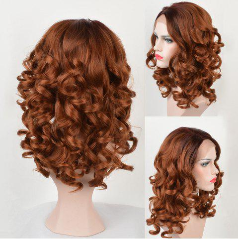 Latest Long Side Parting Body Wave Colormix Synthetic Lace Front Wig