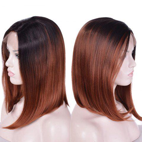 Buy Medium Side Parting Straight Ombre Bob Synthetic Lace Front Wig