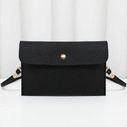 Minimalist Faux Leather Flap Crossbody Bag -