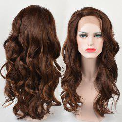 Long Side Parting Wavy Colormix Lace Front Synthetic Wig -