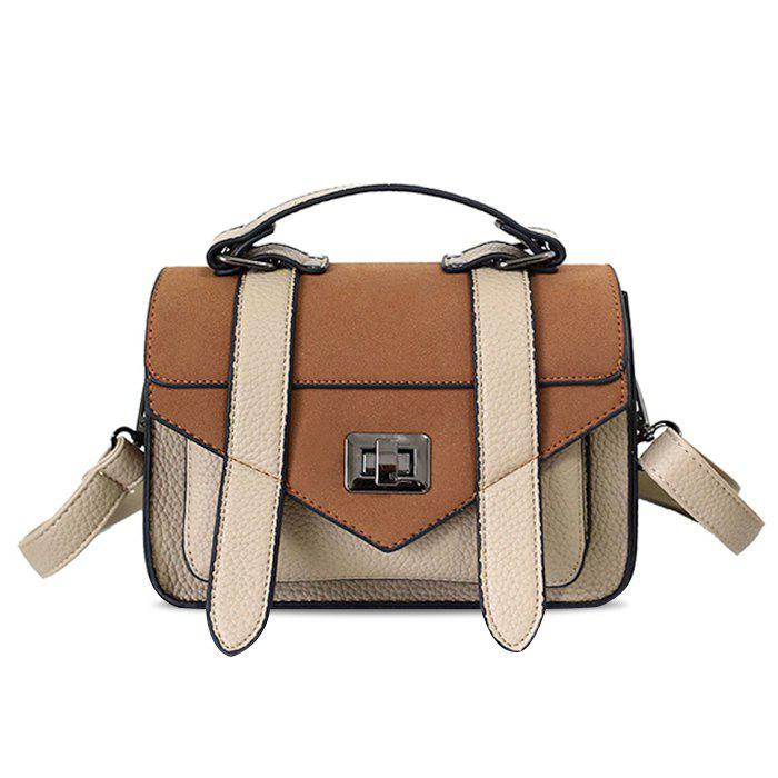Store Stitching Flap Crossbody Bag with Handle