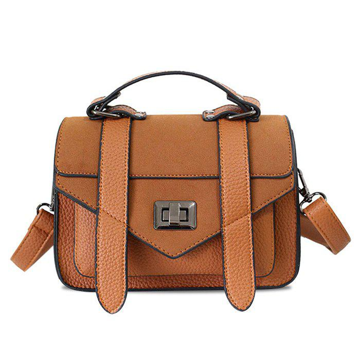 Hot Stitching Flap Crossbody Bag with Handle