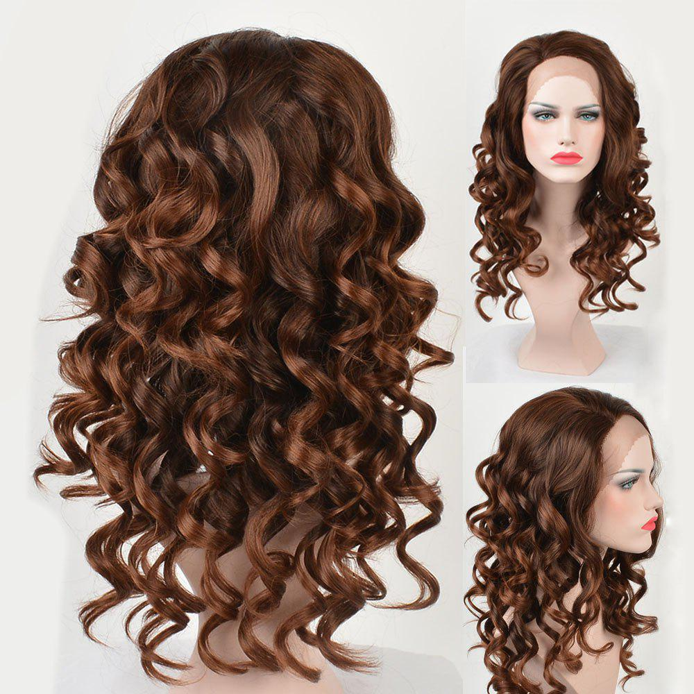 Hot Long Side Parting Body Wave Colormix Lace Front Synthetic Wig