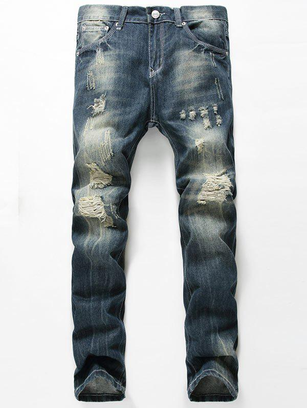 Buy Straight Leg Distressed Jeans