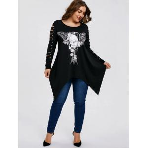 Plus Size Shredding Skull T-shirt -