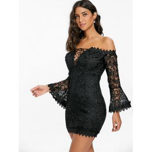 Off The Shoulder Lace Mini Dress -