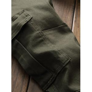 Panel Design Pockets Cargo Jeans -