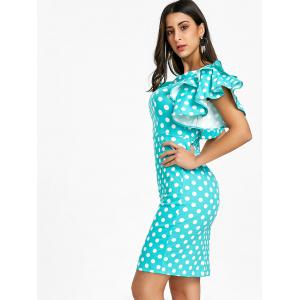 Flare Sleeve Polka Dot Bodycon Dress -