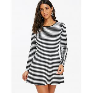 Striped Mini T-shirt Dress -